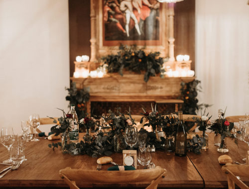 décor cheminée mariage