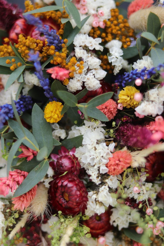 fleurs séchées bordeaux fleuriste